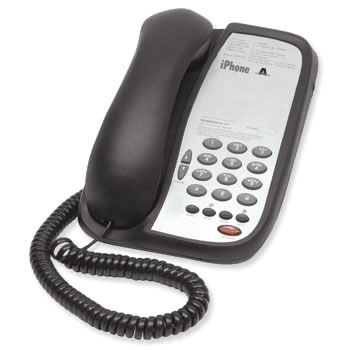 Teledex I Series A102 single line guest room phone