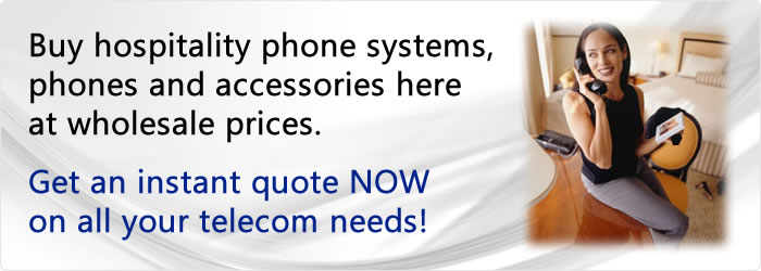 Buy hotel phone systems and phones at wholesale prices.